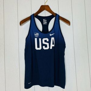 NIke Women Size XL USA Olympic Blue Athletic Top